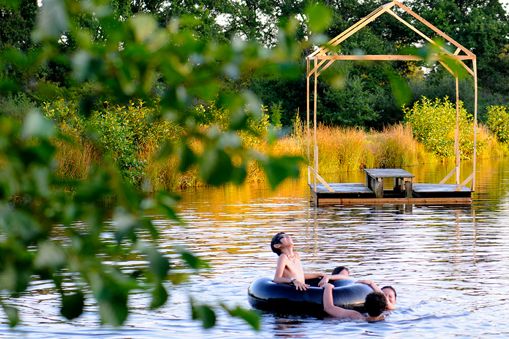 Participants swimming in the lake ©Domaine de Boisbuchet